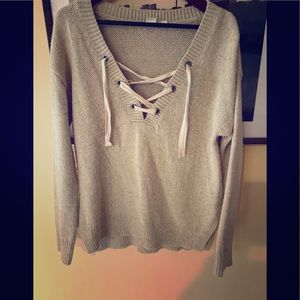 Gap sweater with lacing detail.